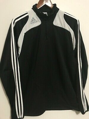 ADIDAS MENS ORNG Prem Clima365 Zip Neck X Static Athletic