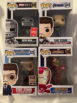 Funko Pop Iron Man Lot Set Of 4 Iron Man Pops