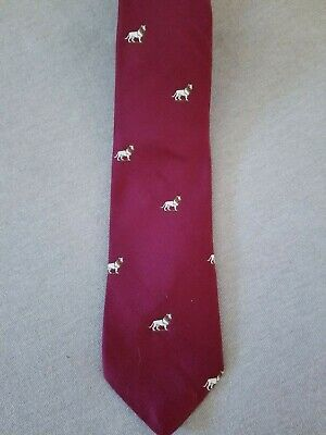 Vintage The Art Institute of Chicago THE LION STATUE Woven Tie in Burgundy