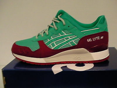ASICS HOMME GEL Lyte III Chaussures Course Noir Blanc Taille