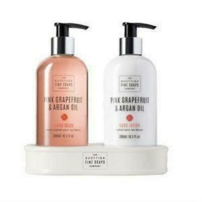 SCOTTISH FINE SOAPS Pink Grapefruit and Argan Oil Hand Care Duo Lotion + Wash