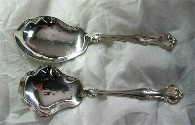 "Cromwell by Gorham Sterling Silver Vegetable Berry serving spoons 9 1/2"" 213 gr"
