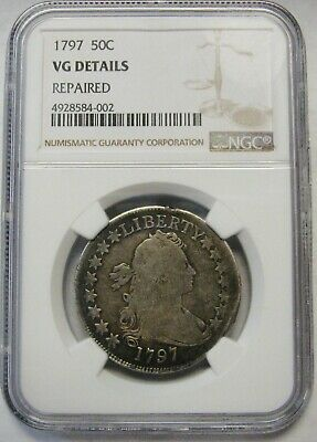 1797 Draped Bust Small Eagle Silver Half Dollar Graded NGC VG Details RARE COIN