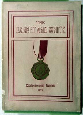 """1925 WEST CHESTER (Pa.) High School Yearbook – """"Garnet and White"""" – Clean Pages"""