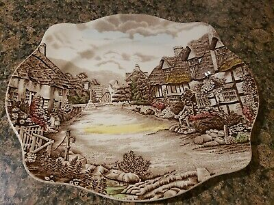 "Johnson Brothers Olde English Countryside 12"" Oval Serving Platter"