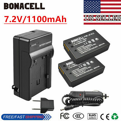 2 x LP-E12 Battery+Charger for Canon Rebel SL1 EOS-M M2 M10 Mirrorless Camera WM