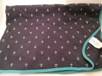 """Anchors Nautical Baby Blanket Can Be Personalized 28/""""x44/"""""""