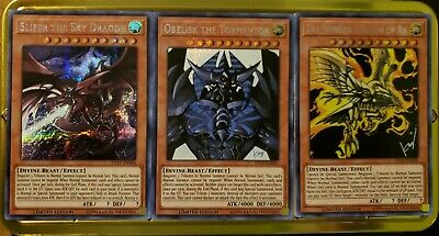 Slifer the Sky Dragon + Obelisk + Ra Limited Edition Secret Rare Set TN19