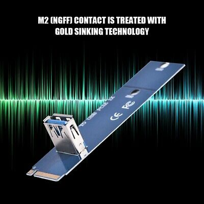 M.2/NGFF to USB3.0 PCI-E Express X16 Extender Adapter Mining Graphic Riser Card