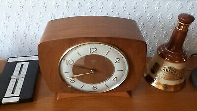 Vintage Smiths 1950'S Chiming Mantel Clock Floating Balance Collectible