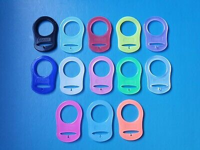 1-100 MAM Style Ring Clips Silicone Dummy Adapters 5 Colours//Free P/&P//UK SELLER