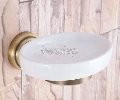 Vintage Antique Brass Wall Mounted Soap Dish Holder Bathroom Accessory sba741