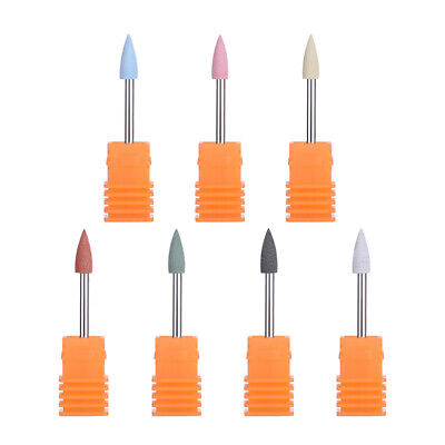 4×12mm Silicone Electric Nail Drill Replacement Bits Machine Nails Remover DIY