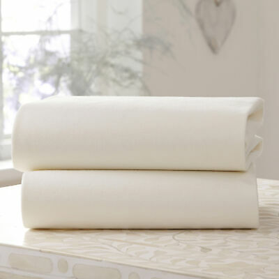 Clair de Lune Fitted Cot Bed Sheets 2 Pack