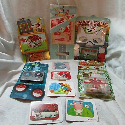 Vtg Collectible Lot 10 Target Store Gift Cards, Toys & Games (1) Puzzle, Legos