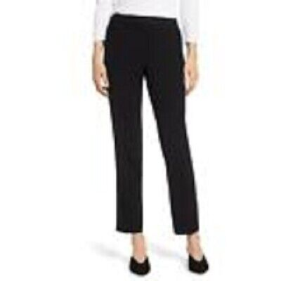 $189 Vince Camuto Women's Black Textured Skinny-Fit Stretch Ankle Pants Size 4