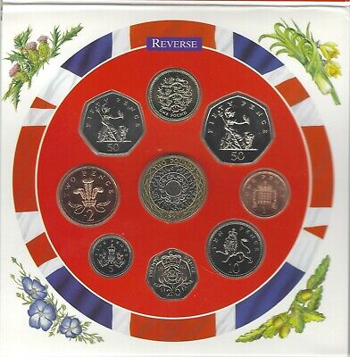 1997 Uncirculated UK Year set BU 9-coin Royal Mint pack with Large 50p & 1st £2
