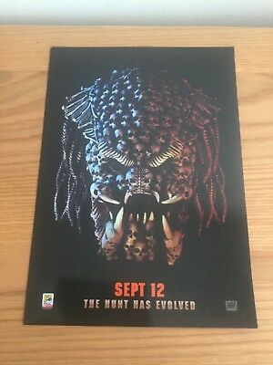 THE PREDATOR (2018) skulls film poster  quality glossy A4 genuine Odeon promo