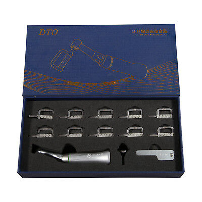 Dental Orthodontic 4:1 Reciprocating Stripping Contra Angle Handpiece Kit CICADA