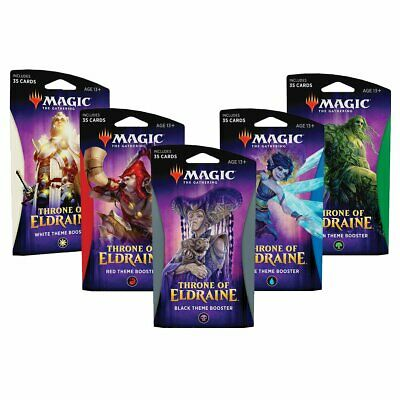 Magic the Gathering MTG Throne of Eldraine Theme Boosters Set of 5