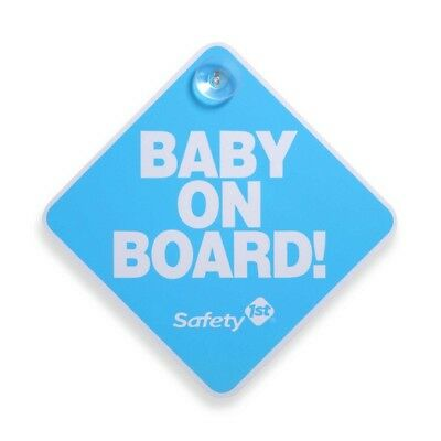 Safety 1st   Baby On Board Sign : Blue  Suction cup   lot of 2