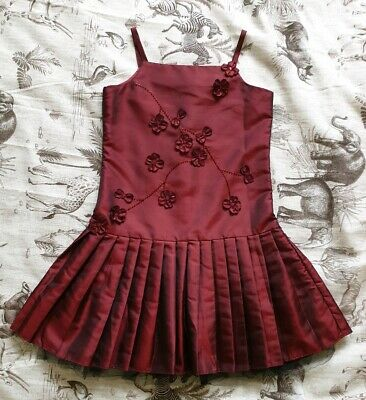 Ladybird Girls Sequin Embellished Taffeta Party Dress Neon Hot Silver Age 3-4Yrs