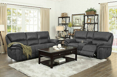 BETSY FURNITURE LARGE Microfiber Reclining Sectional Living ...
