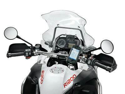 Interphone Iphone 4 Black Motorcycle Holder Mount For Tubular Handlebars