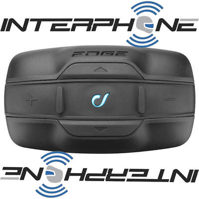 Interphone Edge Single Unit Motorcycle Bluetooth Intercom Headset