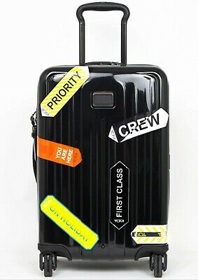 "Lot x 2 Tumi Sets of 6 Stickers ea Custom Luggage Travel Accesories 6 3/4"" x 2"""