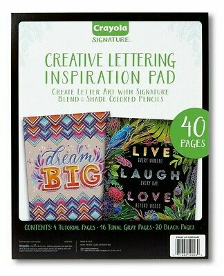 Crayola Signature Creative Lettering Inspiration Pad 40 Pages No Pencils NEW
