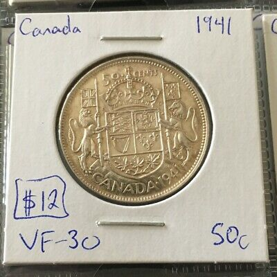 1941 50 Cent Canada MUST SEE   No Reserve!  (Coin #766)