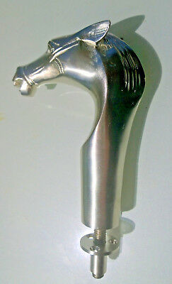 HORSE head CAST WALKING STICK end only BRASS top crutch 2 parts silver plated B