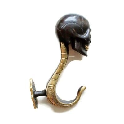 aged walking STICK handle KNOB SKULL BRASS head ONLY day of the dead B