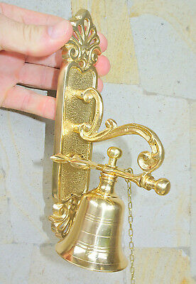heavy Front Door Bell pull chain solid POLISHED brass vintage old style 21.5 cmB