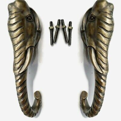 "2 large 28 cm long handle ELEPHANT very heavy cast Door Pull handles 11 "" long B"