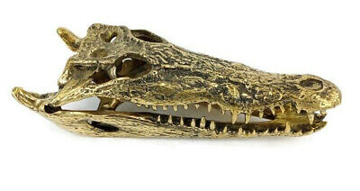 Crocodile skull solid brass large heavy decoration stunning hand made 36 cm B
