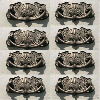 8 heavy handles cast pull solid brass heavy old vintage style drawer 98 mm B