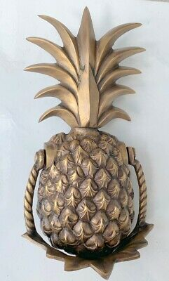 large heavy PINEAPPLE Door Knocker SOLID  100 % Brass old style house banger B