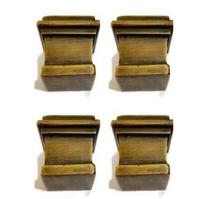 4 sabot square small solid Brass foot castors chair table old style 19 mm cup B