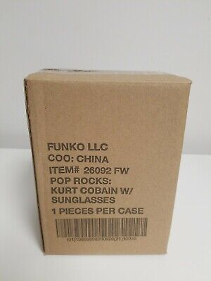 Funko Pop Kurt Cobain W/ Sunglasses Funko Shop Exclusive w/ box MINT