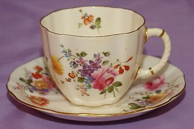 Royal Crown Derby English Bone China Tea Cup & Teacup And Saucer Set