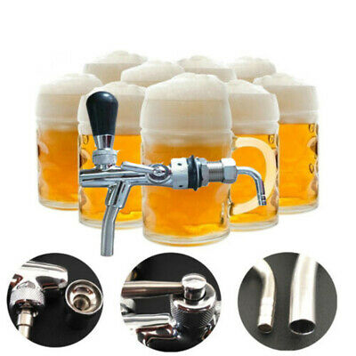 Liquor-flow Draft Beer Faucet Brass Stainless steel Silver Beverage Shank Useful