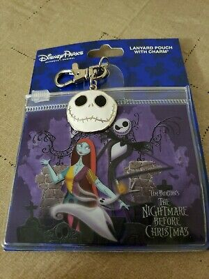 Disney Parks Nightmare Before Christmas Lanyard Pouch with Charm Free Shipping