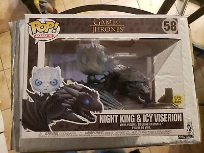 Funko POP Vinyl Fig-Rides-HBO Game of Thrones-#58 Night King & Icy Viserion GITD