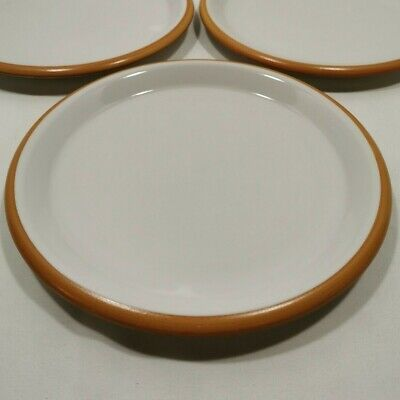 """Vintage Crown Corning Sonora White 9"""" (9 1/8"""") Lunch Plate Terracotta Japan"""