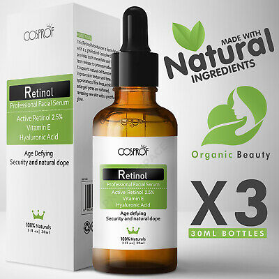 Retinol Serum - Pure Natural Vitamin A C Hyaluronic Acid - Anti-Age Wrinkle Oil