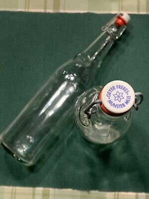 2 Geyer Freyes Glass Bottles With Snap Lid