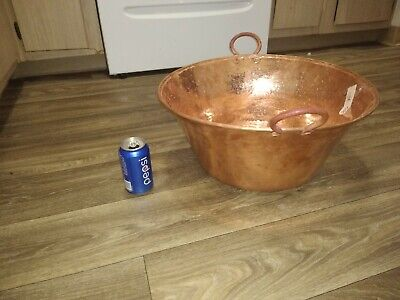 Mexican Pure Copper Pot for Carnitas Cazo. 20 inches wide. Very thick and heavy