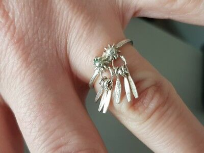 VINTAGE AUTHENTIC Ottoman STYLE hand knitted filigree silver RING - 3 SIZE